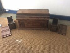 Lovely Classic Vintage Sewing Machine Coffin style Wooden Cover Drawers & Panels