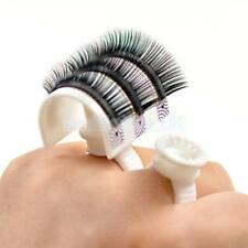 Set 4pc Eyelash Extension Glue Tattoo Pigment Holder Ring Pallet Cup Cap