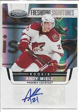 ANDY MIELE 2011-12 Certified FRESHMAN SIGNATURES Auto Rookie Card RC #229