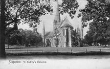 St Andrews Cathedral Singapore Malaya unused old pc Wilson & Co