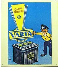Älteres Blechschild  Varta Batterie Reklame Werbung gebraucht used