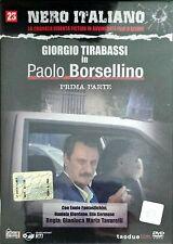Paolo Borsellino Giorgio Tirabassi Prima Parte n° 23 Dvd Nero Italiano