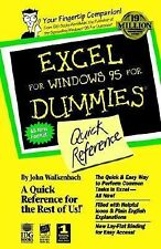 Excel For Windows 95 For Dummies: Quick Reference For Dummies Series