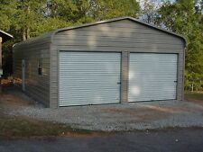 24 x 31 x 9 Metal Building Delivered and Installed - Perfect Two Car garage
