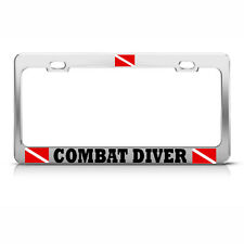 COMBAT DIVER License Plate Frame Heavy Metal LOVE SCUBA DIVING Tag Border