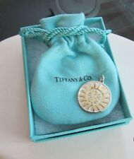 TIFFANY & CO STERLING SILVER 18K YOU ARE MY SUNSHINE COIN CHARM W ORIG BOX/POUCH