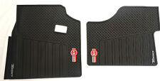 Kenworth T880 OEM Black Rubber Floor Mats W/Logo for 2014-2017 -2PC All-Weather
