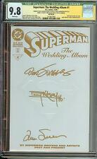 SUPERMAN THE WEDDING ALBUM #1 RRP AUTO X3 VERY RARE ONLY 250 MADE KITSON JURGENS