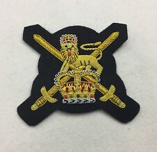 British Army Blazer Badge, Wire Embroidered, Military, Jacket, Presentation