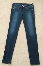 TRUE RELIGION BRAND JEANS SECTION JULIE USA IMPORTED FABRIC SZ W 32 L 34 RISE 9""