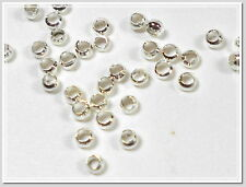 100 Quetschperlen 2mm silber Perlen