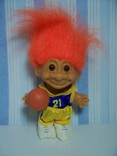 "BASKETBALL PLAYER - 5"" Russ Troll Doll - NEW IN ORIGINAL WRAPPER - Orange Hair"
