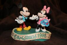 Disney 1995 Christmas Ceramic Bisque Mickey & Minnie Mouse dancing-music