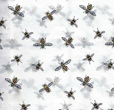 50 Large Sheets ~ Buzzing Bee Tissue Paper on White ~ #0253
