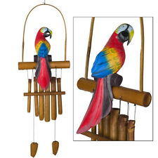 Woodstock Chimes Parrot Bamboo Wind Chime, 36 Inches