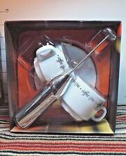 Coffee Set Boxed,2003,Cups & Book,Top That! Publishing,Collectible Kitchen Decor