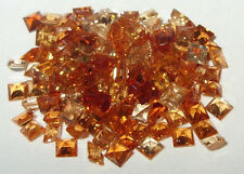 3mm Mixed ColorsTanzanian Hessonite Garnet Princess Cut