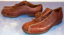 CYDWOQ lace up EMBOSSED leather OXFORD shoes HAND MADE in USA size 7.5