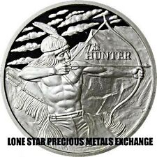 2016 BU - The Hunter - 1 oz .999 Silver Round - USA INDIAN - BISON BULLION COIN