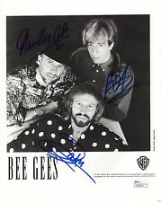 THE BEE GEES authentic signed 8x10 photo   VERY RARE  SIGNED BY ALL 3    JSA COA