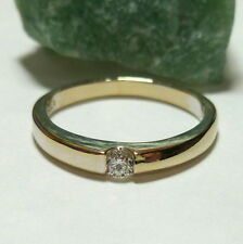 Toller Ring Weißgold 58 (18,5 mm Ø) 750/18k Gold Brillant 0,10ct Diamant