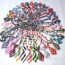 20 Pcs Dog Ties Clothing Puppy Cat Floral Pet Pre-ted Tie Bows Necktie Polyester