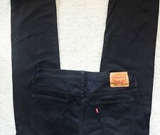 "Levi's 569 Black Zipper Fly Loose Straight Jeans size W34""x31"" EUC"