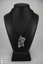 Fresian Horse silver covered necklace, high quality keychain Art Dog