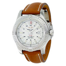 Breitling Colt Automatic Silver Dial Brown Leather Mens Watch A1738811-G791BRLD