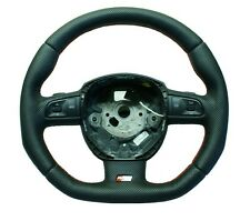 Steering Wheel AUDI A3 A4 A5 A6 Q7 FLAT BOTTOM ! SPORT MODIFIED !