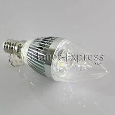 Lampada 3W LED E14 Candela Bianco Caldo Colore Argento 220V 240 lumen euiv.25W