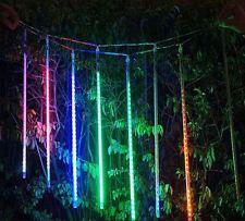 7 colori spesso collegabili LED pioggia di meteoriti Shooting Star Tubo Luce 55cm 8 TUBI