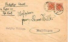 Württemberg Dienst 137 MEF a. Ortsbrief von Waiblingen 1919