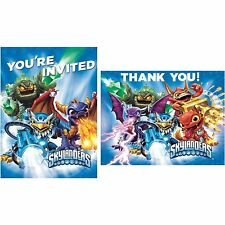 8 Skylanders Video Game Birthday Party Invitations Invite and Thank You Cards