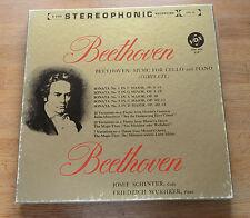 Beethoven SCHUSTER WUEHRER Sonaten f. Piano und Cello VOX SVBX 58 3LP set