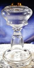 Antique EAPG Patterned Glass Kerosene Oil Lamp Scalloped Band Base Nice!