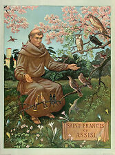 MILO WINTER XRARE Vintage 1931 OOP Historical Muragraph SAINT FRANCIS OF ASSISI