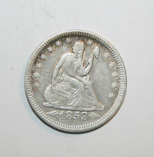 1853 SEATED LIBERTY QUARTER WITH ARROWS AND RAYS A092