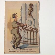 Belgium Antique Postcards X2 Cartoon Humour Comedy Vintage Original