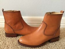 New FRYE Women's Danielle Short Tan Brown Leather Boots Sz 7.5 $348
