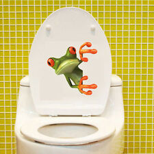 Fashion Wc-Seat Stickers Green Frog Shore Wall Car Bad Wc-Seated Lid Stickers