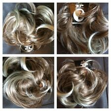 Hair scrunchie for bun or ponytail Large Blonde & Light To Medium Brown Ash Mix