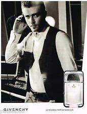 PUBLICITE ADVERTISING 105 2008  GIVENCHY   parfum homme PLAY & JUSTIN TIMBERLAKE