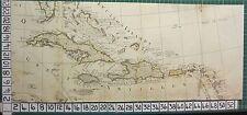 1782 ANTIQUE (PART) MAP ~ WEST INDIES CUBA JAMAICA PORTO RICO SAYER ~ KITCHIN