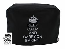 Brodé kitchenaid artisan keep calm... baking noir aliments mixeur housse
