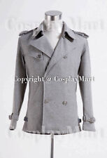 Twilight Edward Cullen Grey Pea Coat  Ver 2 Costume