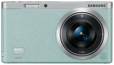 Samsung NX Mini Smart Camera with 9mm Lens (Mint Green) + SD Card