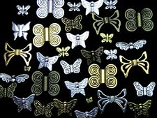 30g x Random Mixed Butterfly Beads Tibetan Silver Golden Bronze Jewellery Z117