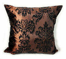 CUSHIONS CUSHION COVERS LARGE FLOCK DAMASK COVERS 9 LOVELY COLOURS