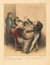 """Honore Daumier Reproductions: """" Oh my God! He is n-naughty.."""" - Fine Art Print"""